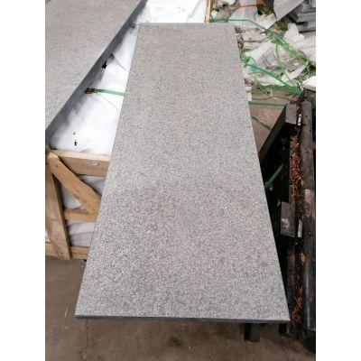 Mauerabdeckung grau-schwarzer Granit 'Angkor Black'100 x 35 x 3 cm