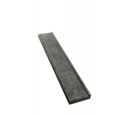 Schwelle mit Wassernase und Dammleiste 130 x 22 x 5/6 cm